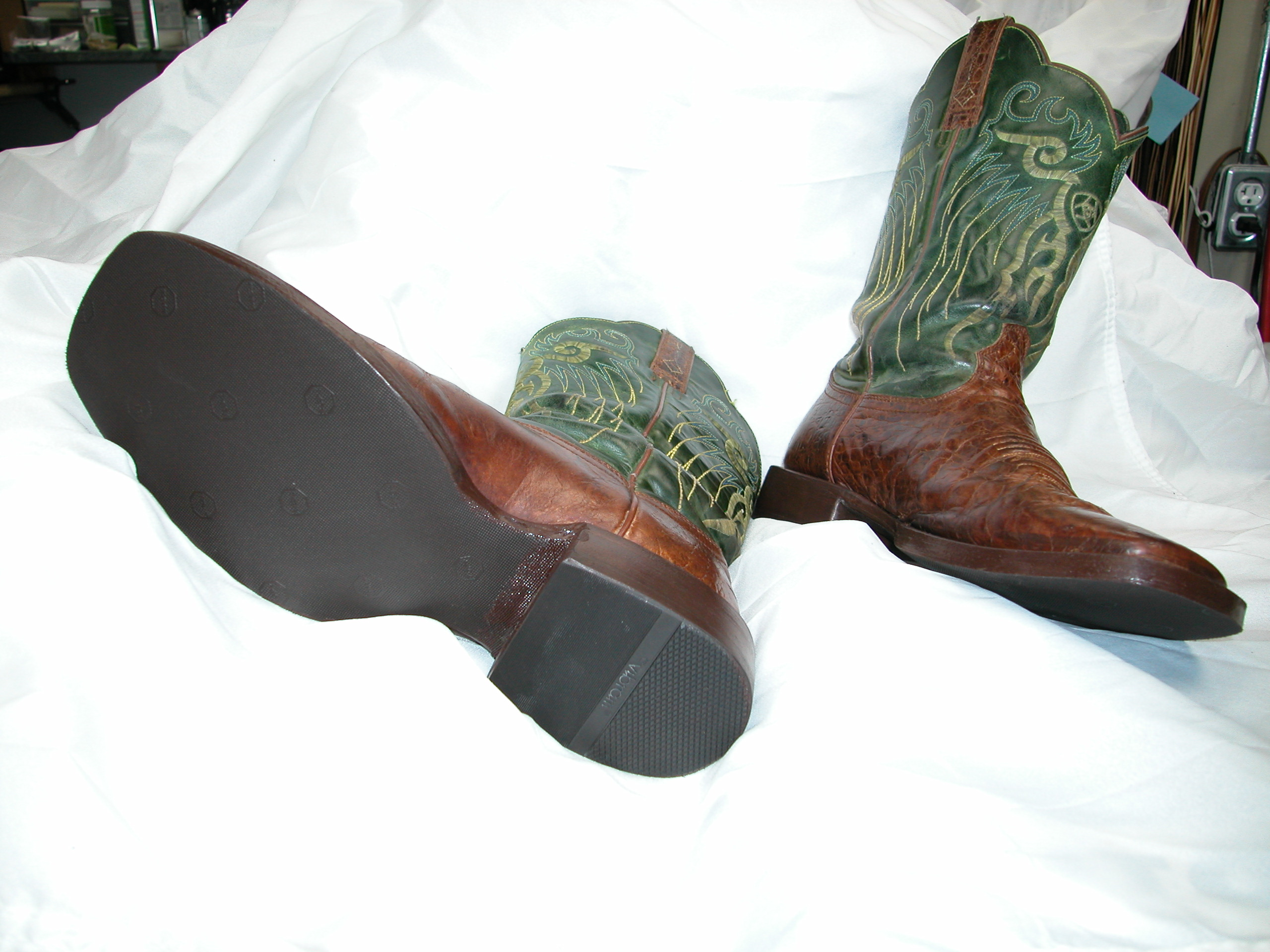 Restored holely cowboy boots